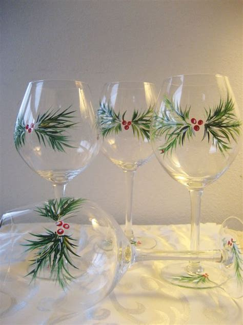 check   stunning hand painted wine glasses diy ideas