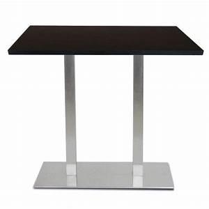 Mange Debout 6 Personnes : perfect table mange debout base ultra plat en inox bross avec plateau t one with comment ~ Teatrodelosmanantiales.com Idées de Décoration