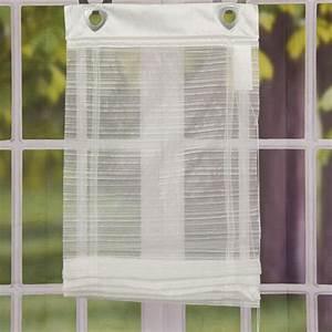 Raffrollo Weiß Grau : raffrollo mit fensterhaken d nne streifen wei 60x140cm ~ Lateststills.com Haus und Dekorationen