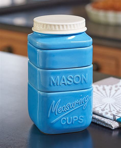Mason Jar Measuring Cup Set Dolomite   HubKet
