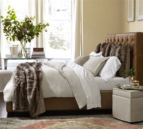 Faux Fur Headboard by Glamorous Faux Fur Throw Decorating Ideas For Bedroom