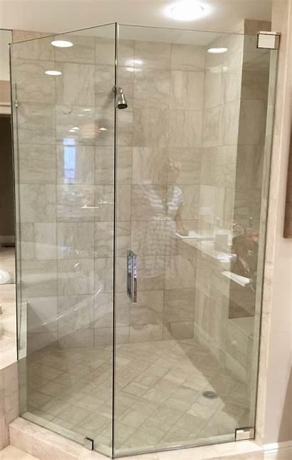 Shower Glass Frameless Corner Doors Door Enclosures