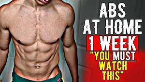 Best Way To Get Abs At Home In A Week  6 Pack For Teenagers Fast