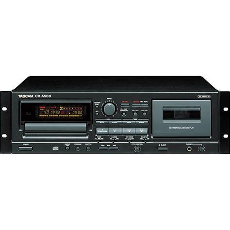 Cd Cassette Player by Tascam Cd A500 Rackmount Cd Cassette Player Music123