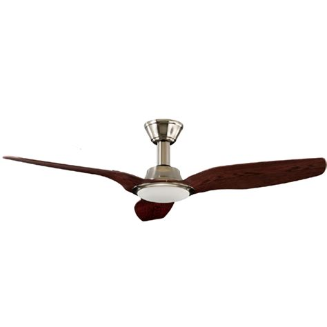 trident dc ceiling fan high airflow led light satin nickel