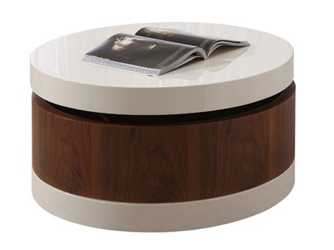 White Round Accent Table With Drawer  Round Table Ideas