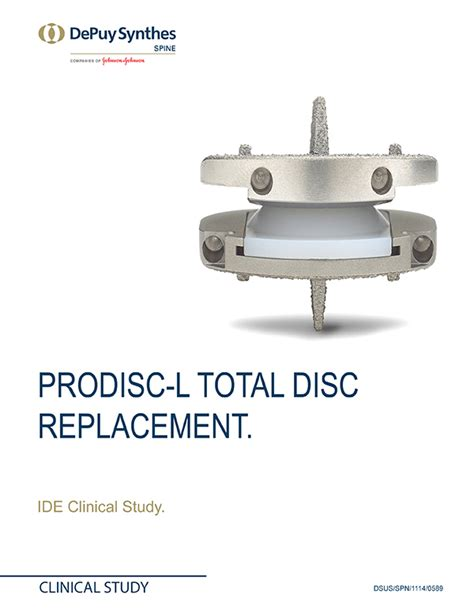 L Replacement prodisc l total disc replacement ide clinical study brochure