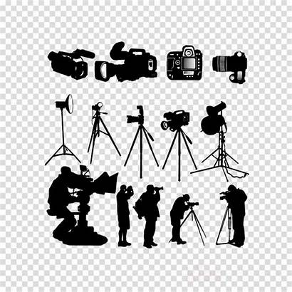 Camera Silhouette Crew Photographer Clipart Transparent Videographer