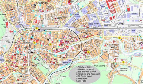 bureau de change com cartes de ljubljana cartes typographiques détaillées de