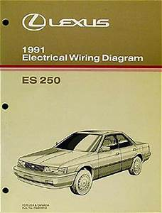 1991 Lexus Es 250 Oem Wiring Diagram Manual Es250 Original