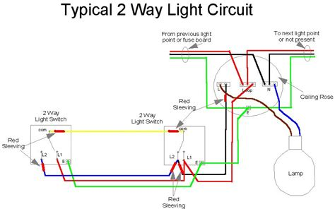 Two Way Light Switch Diagram Typical Wiring For by Home Electrics Wiring Regulations 17th Edition Amendment 2