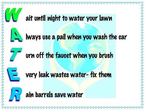 en taylor acrostics saving water rain barrels