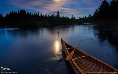 Landscape River Canoe Moonlight Theme Allagash 10wallpaper