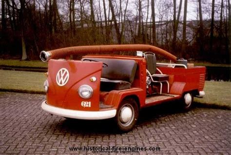 volkswagen fire modified vw transporter t1 to work as a fire engine