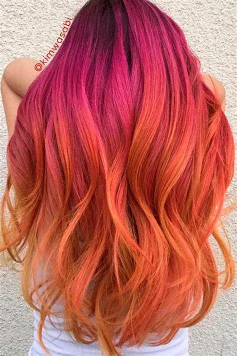 daring pink  orange hairstyles huge   hairstyles  haircuts lovely
