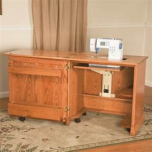 Mini Plus Sewing Cabinet - Amish Made, Solid Hardwood