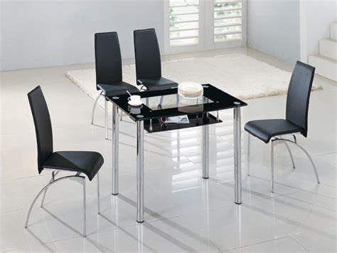 small glass dining table sets