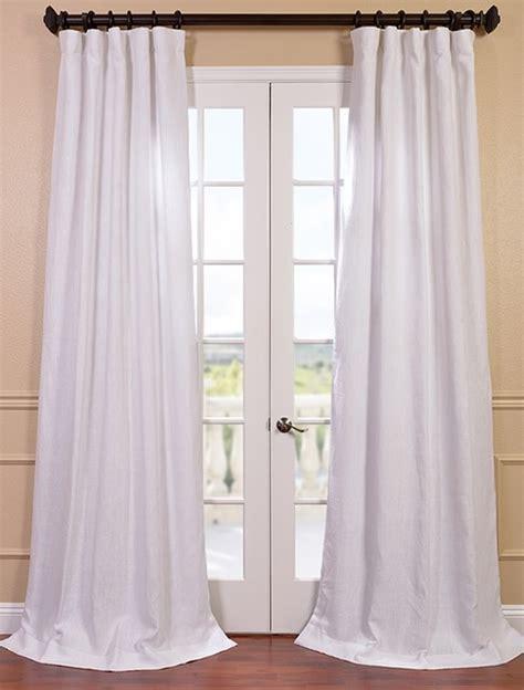 blanc white linen curtain contemporary curtains