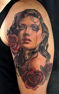 Beautiful Girl Portrait Tattoo
