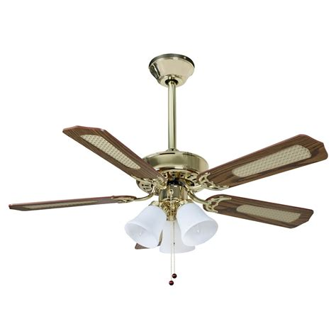 fans belaire ceiling fan 42 inch polished brass with