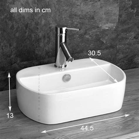 sienna mm  mm bathroom basin counter top narrow cloakroom sink