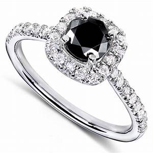 diamond me round brilliant black and white diamond With black stone wedding rings