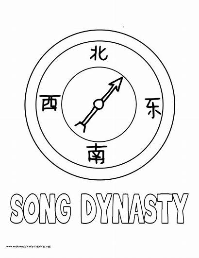 Coloring Pages Song History Dynasty Volume Compass