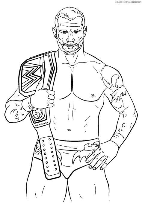 Dibujos Sin Colorear Dibujos De Luchadores De La Wwe Para