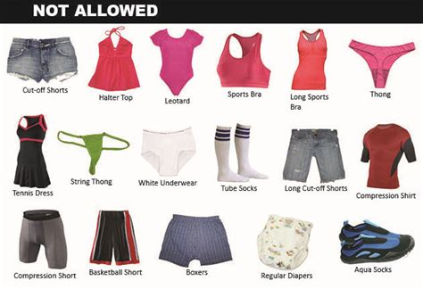 dpr posts official list  proper swim attire  dc pools