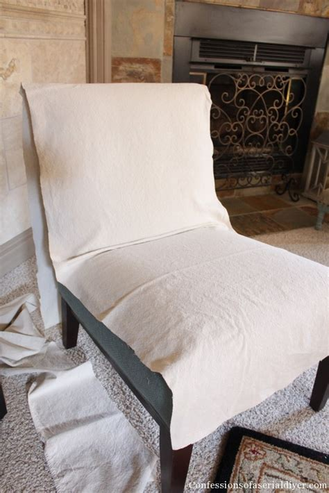 diy chair slipcover slipcovering an armless accent chair confessions of a