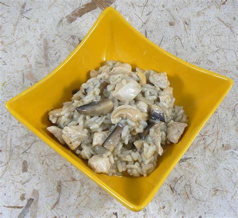 une cuisine pour voozenoo risotto au poulet chignons et noix de cajou une