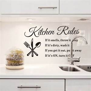 Kitchen wall quotes and sayings quotesgram for What kind of paint to use on kitchen cabinets for movie poster wall art