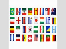 Brazil World Cup Fabric Bunting All 32 Flags 9 Metres