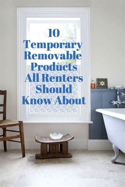temporary removable adhesive products  renters