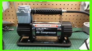 Harbor Freight 12volt 150psi High Volume Air Compressor Pump Review  Not The 100psi Model