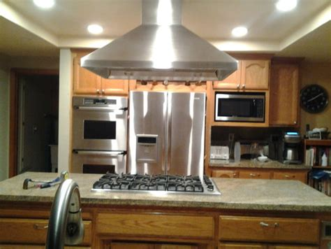 kitchen sinks granite replacing a drop in cooktop with a range top in a granite 3014