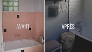 Astuce Enlever Plinthes Carrelage Sur Cloisons : repeindre des carreaux de salle de bain oh babou ~ Melissatoandfro.com Idées de Décoration