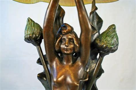 causse art nouveau organic lady figurine lamp art