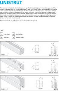 Channel Unistrut Supports