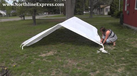 assemble  king canopy     leg universal canopy car port youtube
