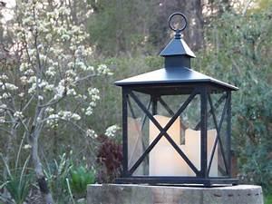kaemingk laterne kunststoff schwarz mit led kerzen von With französischer balkon mit garten laterne