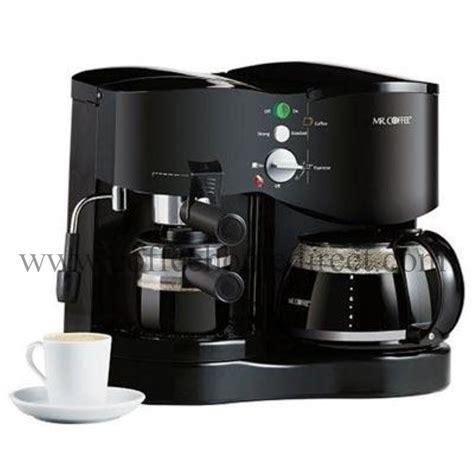 espresso and coffee maker mr coffee ecm21 automatic coffee maker espresso machine