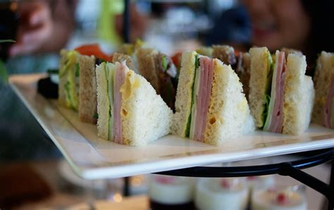finger sandwiches piccante dolce travel thursday afternoon tea at the london west hollywood