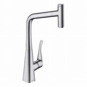 Hansgrohe Metris Select : hansgrohe metris select single lever kitchen mixer 320 with pull out spout stainless steel buy ~ Eleganceandgraceweddings.com Haus und Dekorationen