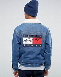 Veste En Jean Doublée Mouton Femme : tommy jeans tommy jeans veste en jean doubl e style camionneur coupe classique ~ Melissatoandfro.com Idées de Décoration