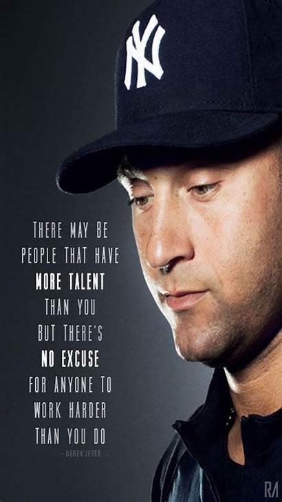 Jeter Derek Quotes Wallpapers Baseball Sports Hardwork