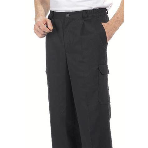 pantalon cargo homme polycoton noir 6 poches entretien