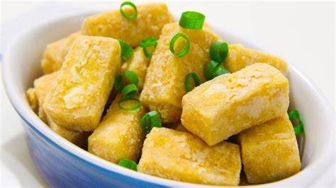 fried tofu recipe how to deep fry tofu video recipe youtube