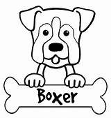 Boxer Coloring Dog Printable Puppy Dogs Cartoon Cattle Boxers Colorear Australian Coloriage Drawing Sheets Draw Template Puppies Face Heeler Drawings sketch template