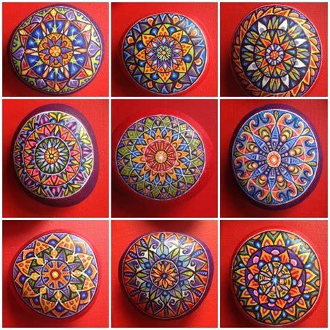 mandala rocks ideas  pinterest mandala